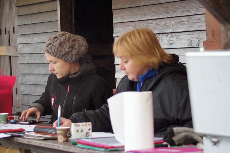 Amélie et Corinne au secrétariat le samedi
