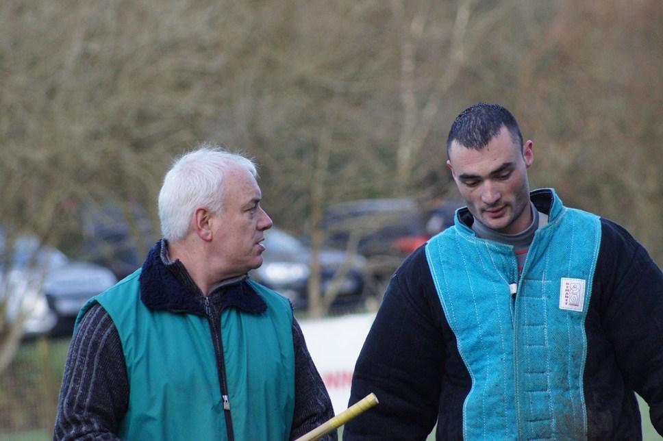 Gilles et Maxime après l'exercice de la face